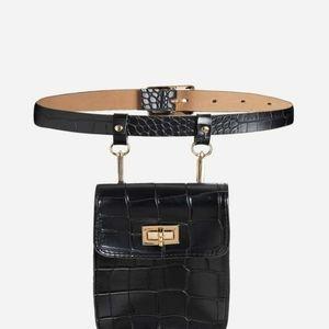 💫2020 crocodile faux r fanny pack bum bag belt